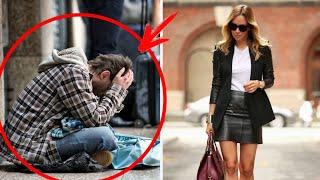 """Он всегда """"клянчил"""" деньги у богатенькой девушки возле ее ресторана. Однажды она решила его прогнать"""