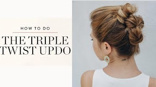 Triple Bun Updo | Homecoming Hairstyles | Easy DIY Hairstyle |