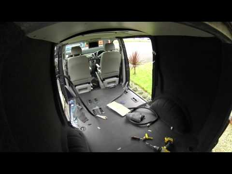 VW T5 Carpet lining, Dvd roof mount, LED lighting and seats. Start to finish.
