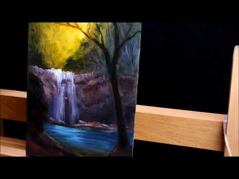 Waterfall Painting in oils by Chris Vidal