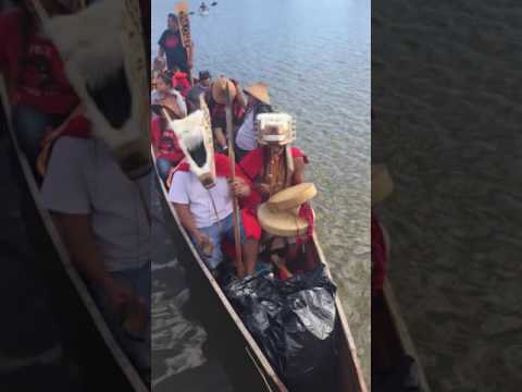 Tlingit asking to come ashore @ standing rock NO DAPL 9/8/16
