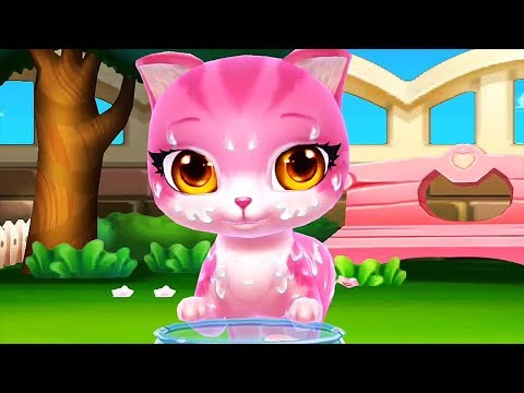 Cat Cartoon Pet Care Game - Bath Kitten Dress Up Feed & Treat Cats - Pet Cartoon Video