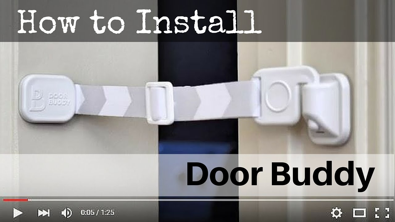 Door Buddy® | Simple Installation | No Tools Needed  sc 1 st  YouTube & Door Buddy® | Simple Installation | No Tools Needed - YouTube