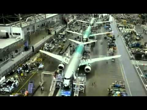 Incredible time lapse video of Boeing 737 construction