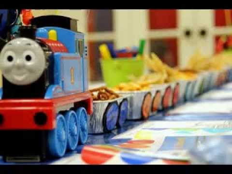 Thomas the train birthday party ideas - YouTube