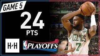 Jaylen Brown Full Game 5 Highlights 76ers vs Celtics 2018 NBA Playoffs - 24 Pts!