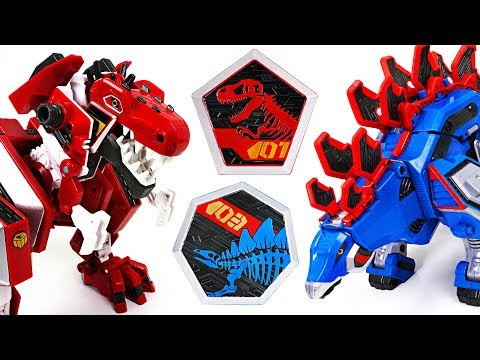 Geo Mecha dinosaur transformer Captaindino Tyrannotooth, Stegotank appeared! - DuDuPopTOY