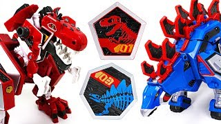 Geo Mecha dinosaur transformer Captaindino Tyrannotooth, Stegotank appeared! - DuDuPopTOY