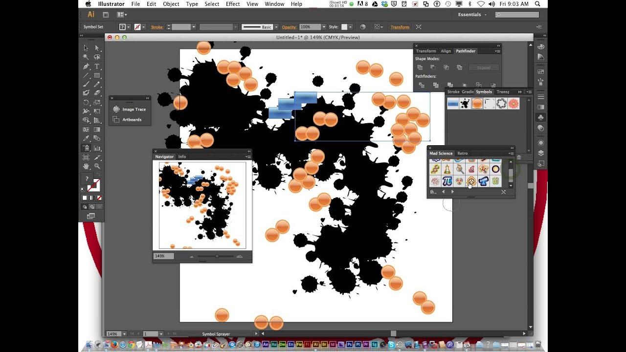 Adobe illustrator l15 symbol sprayer tool youtube adobe illustrator l15 symbol sprayer tool biocorpaavc