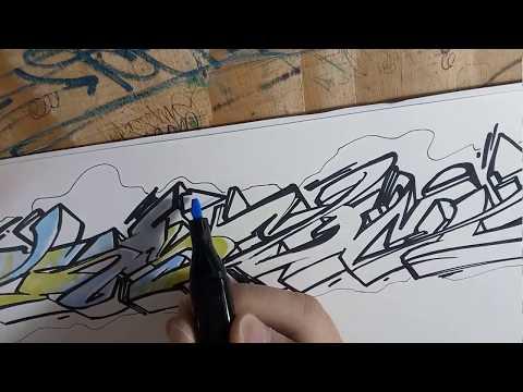 #15 Graffiti Sketch in my blackbook with markers | TeeM1