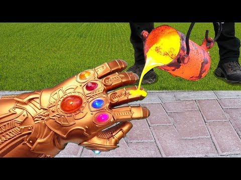 EXPERIMENT: LAVA VS THANOS Infinity Gauntlet In Avengers