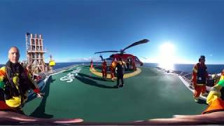 360 video: Life on an oil rig