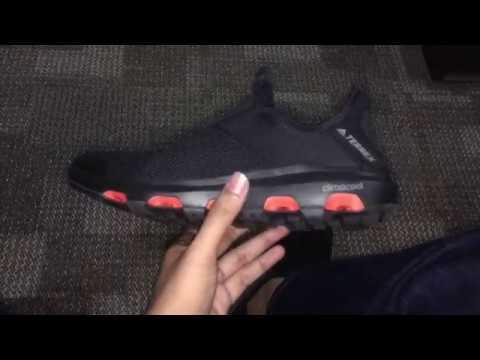 88383cee5671 Review Singkat Adidas Terrex Climacool Voyager Slip-On Black - YouTube
