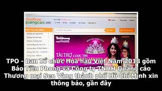 Cảnh giác kẻ mạo danh BTC Hoa hậu Việt Nam 2018 mời chào tài trợ