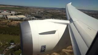 Landing on board AirEuropa Boeing 787 EC-MIG
