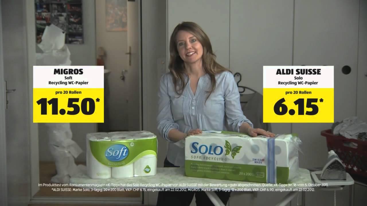 Wc Papier Aldi.Aldi Suisse Werbung Wc Papier