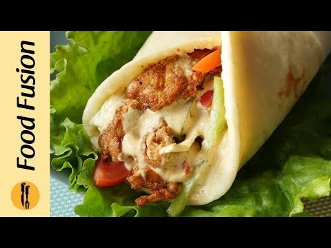 Grilled chicken shawarma with Lebanese style pita bread Recipe By Food Fusion