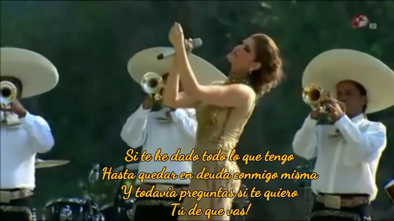 Download Tú De Qué Vas - Ana Bárbara ( Letra)