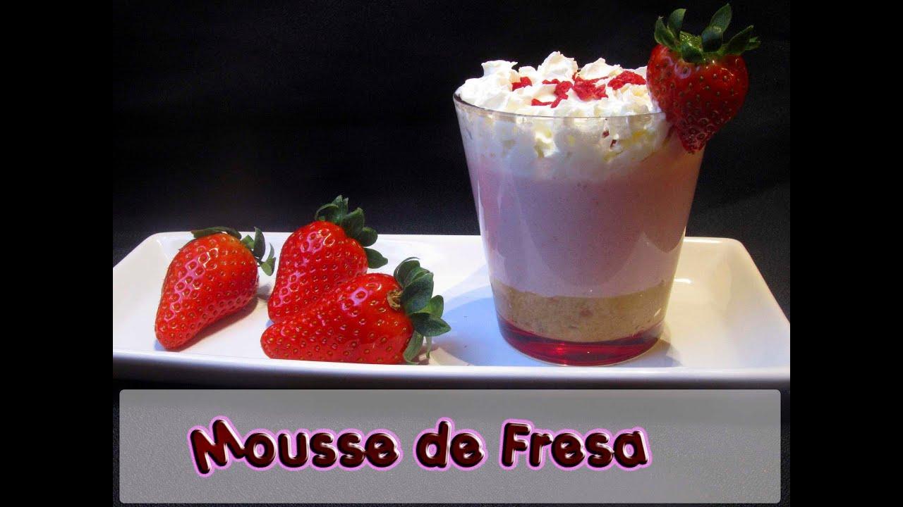 Como hacer mousse de fresa receta f cil youtube - Como hacer zumo de fresa ...