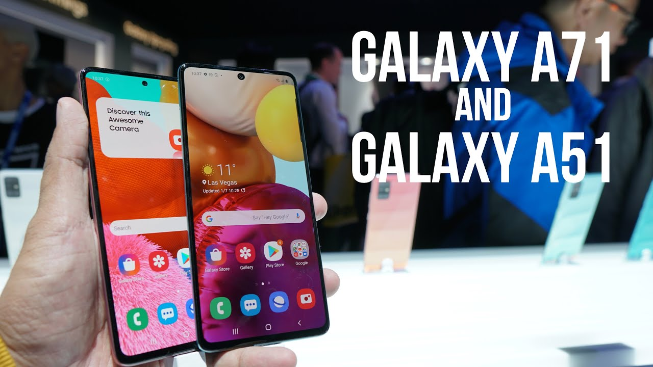 Samsung Galaxy A71 and Galaxy A51 Hands on, Specs, Features | CES 2020
