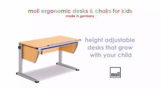 Ergokidz -  Moll Ergonomic Kids Desks & Ergonomic Kids Chairs
