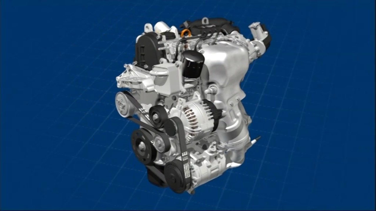 [NRIO_4796]   Volkswagen TSI Engine (1.2 L 105 PS / 77 kW) - YouTube | Vw 2 0 Tsi Engine Diagram |  | YouTube