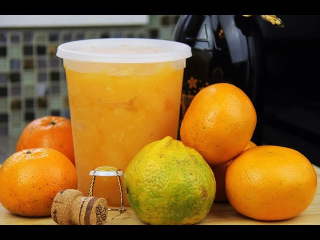Portugal (citrus) Prosecco Sorbet #TastyTuesdays | CaribbeanPot.com