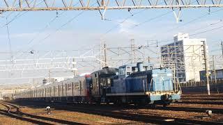 2019.11.7名鉄9500系9503F+9504F甲種輸送名古屋臨海鉄道ND552 -10号機牽引