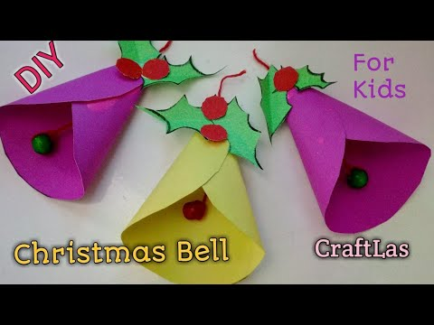 Make Amazing Paper Christmas Bells For Christmas Decorations  CraftLas - YouTube
