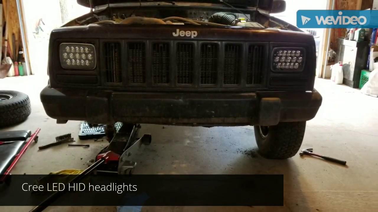 98 jeep cherokee headlight upgrade [ 1280 x 720 Pixel ]