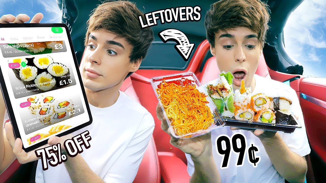 I Used An App To Eat Restaurant Leftovers For 24 Hours Youtube