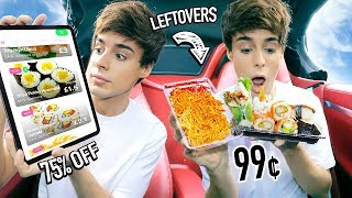 Download i used an app to eat RESTAURANT LEFTOVERS for 24 hours Mp3 and Videos