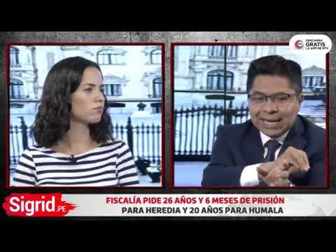 Julio Cesar Espinoza entrevista con Sigrid Bazan en La Republica