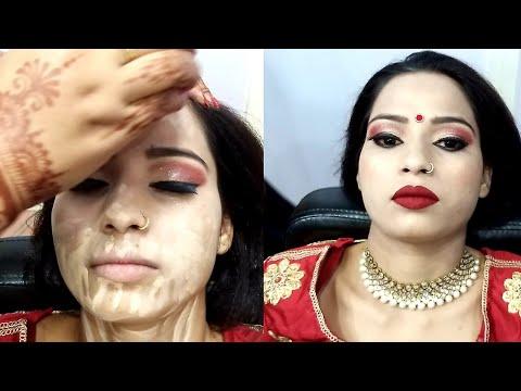 Indian bridal makeup// step by step 2019