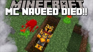 MC NAVEED DIED IN HIS MINECRAFT WORLD MAP !! MARK FRIENDLY ZOMBIE TO THE RESCUE !! Minecraft Mods