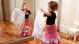 adorable two year old flamenco dancer