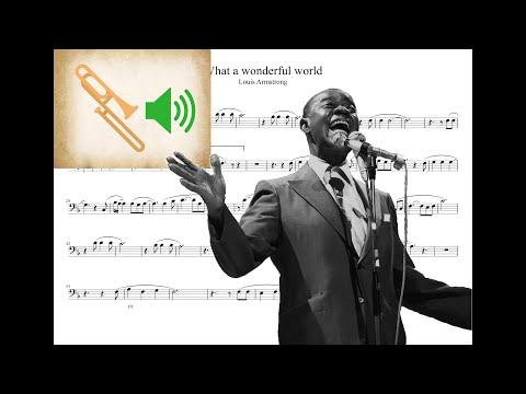 'What a wonderful world' - Trombone + Play-along