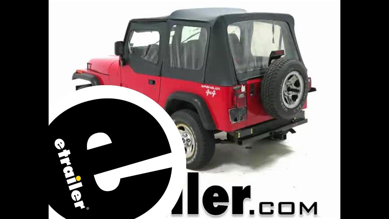 etrailer trailer hitch installation 1995 jeep wrangler