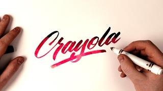 Hand Lettering Tutorial | Crayola Marker Brush Calligraphy 🖌