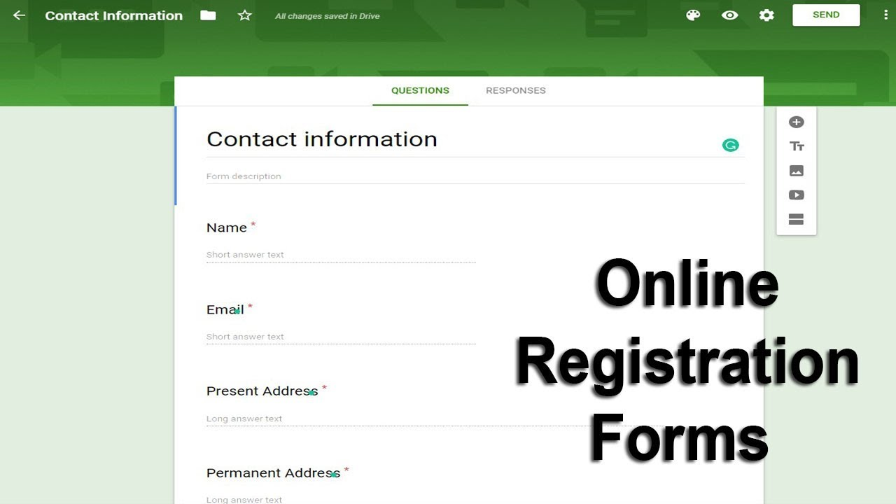 How to create online registration form using google docs Forms
