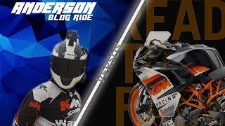 ANDERSON en Yamaha MT03 VS KTM RC200 EN CIRCUITO!