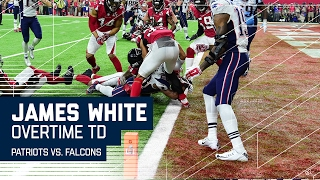 James White Game-Winning OT Touchdown! | Patriots vs. Falcons | Super Bowl LI Highlights