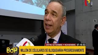 Osiptel y Mininter coordinan que bloqueo de equipos celulares sea progresivo