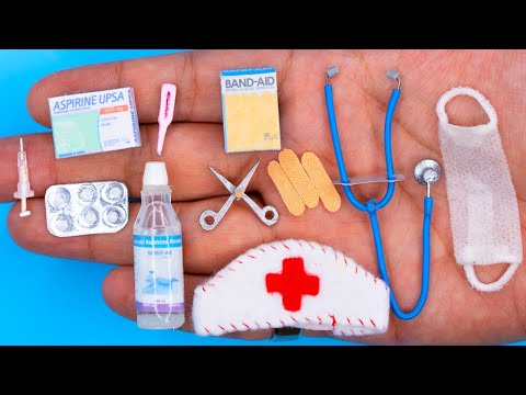 25 DIY BARBIE HACKS ~ MINIATURE ITEMS For DOCTOR!