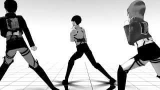 (進撃の巨人)【Echo- Levi, Eren & Petra】MMD