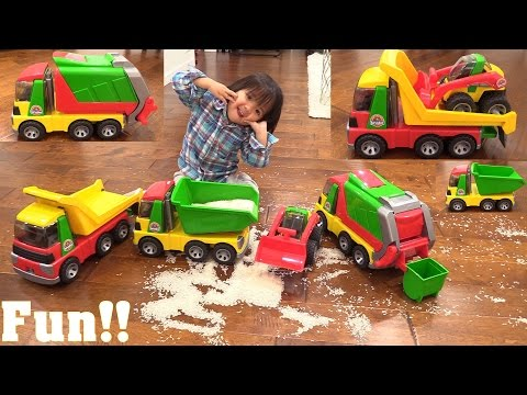 Children's TOY TRUCKS Review: Bruder Roadmax Garbage Truck, Dump Truck and Transporter Truck