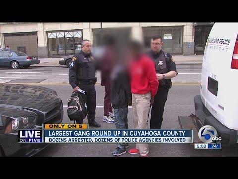 Cuyahoga County's largest gang sweep arrests dozens