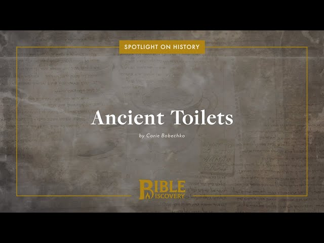 What Did the Ancients Use for Toilet Paper? | Spotlight on History | Ancient Toilets