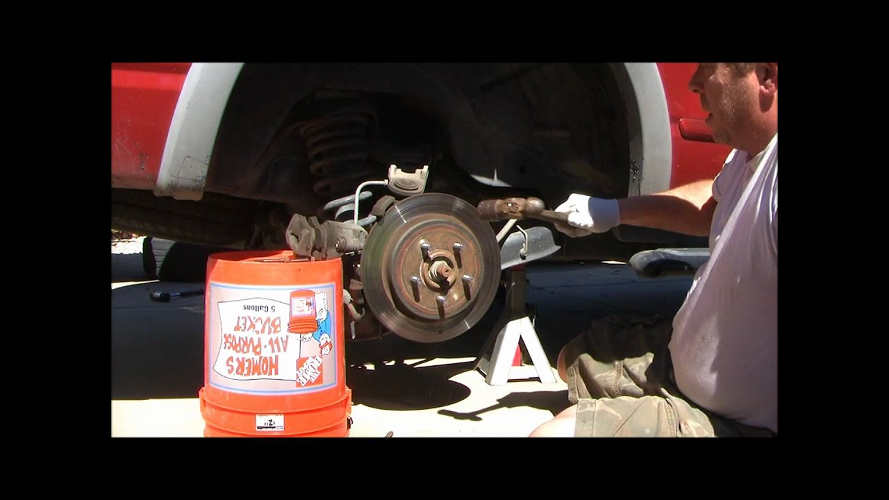 2002 Ford Explorer Replacing The Rear Brake Rotors And Pads 2001 Sport Trac Engine Diagram