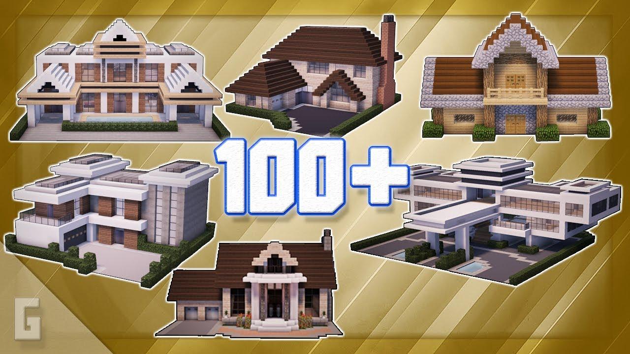 100 Minecraft House Ideas Youtube